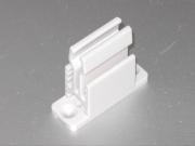 heco 207 Schnapper weiss, mod. Design Kurbelhalter mit Schnapper, mod. Design Farbe weiss, Grundplatte mit Klemmer