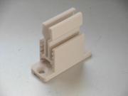 heco 208 Schnapper grau, mod. Design Kurbelhalter mit Schnapper, mod. Design Farbe grau, Grundplatte mit Klemmer